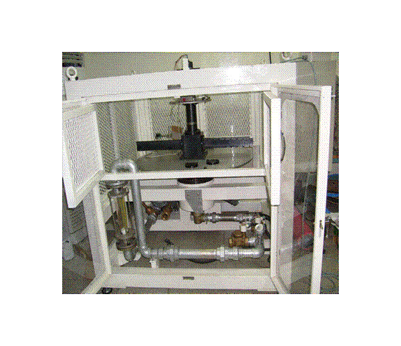Rotating channel test apparatus (real)